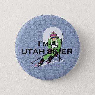TOP Utah Skier Button