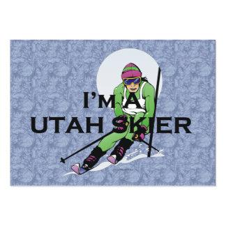 TOP Utah Skier Large Business Card