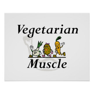 TOP Vegetarian Muscle Print