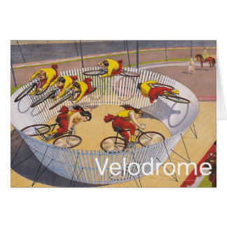 TOP Velodrome Circles Greeting Card