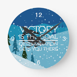 TOP Victory Goal Skiing Round Clock