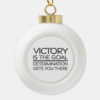 TOP Victory Slogan Ceramic Ball Christmas Ornament