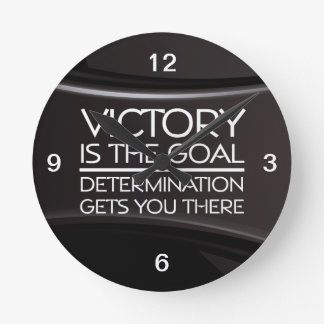 TOP Victory Slogan Round Clock