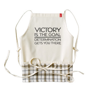 TOP Victory Slogan Zazzle HEART Apron