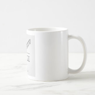 Top view and front view of a bifurcated staircase coffee mug