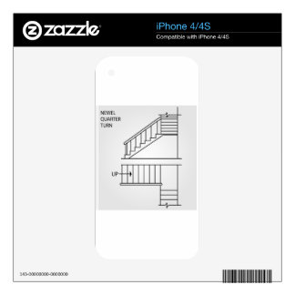 Top view and front view of a Newel quarter turn iPhone 4 Decal