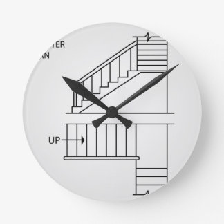 Top view and front view of a Newel quarter turn Round Clock