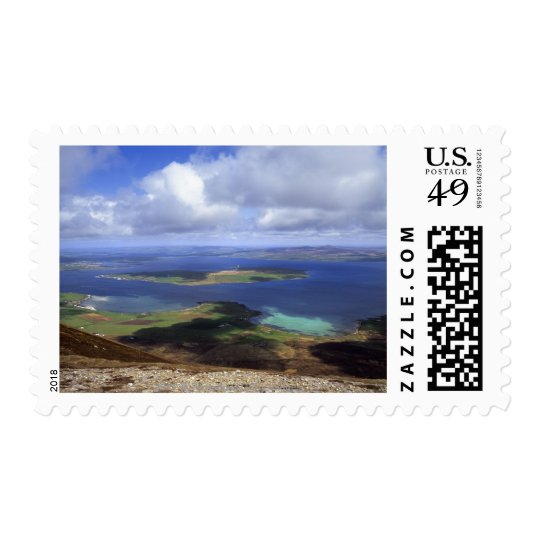 Top view: burra sound, graemsay & orkney mainland postage