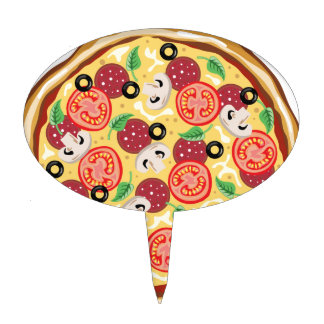 Top View Great Pizza Cake Topper