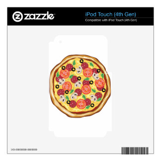 Top View Great Pizza Decals For iPod Touch 4G