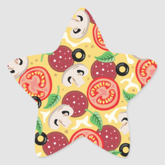 Top View Great Pizza Star Sticker