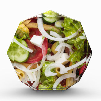 Top view of a salad made from natural vegetables award
