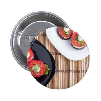 Top view of a vegetable dish button