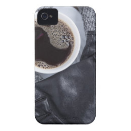 Top view of a white cup with coffee Case-Mate iPhone 4 case