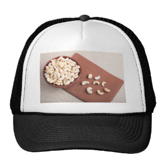 Top view of breakfast for raw foodists trucker hat