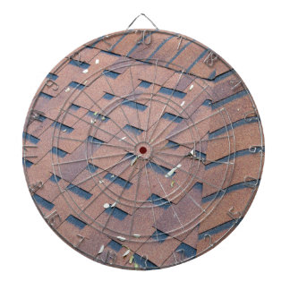Top view of brown roof shingles dart boards