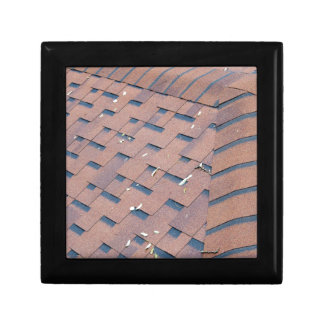 Top view of brown roof shingles gift box