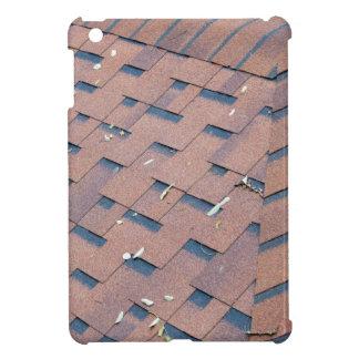 Top view of brown roof shingles iPad mini covers