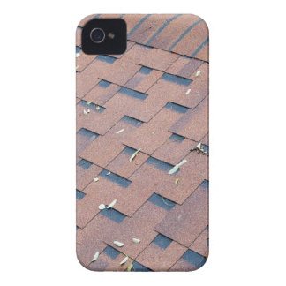 Top view of brown roof shingles iPhone 4 case