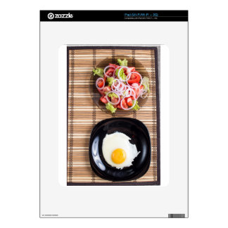 Top view of homemade meals on the table skins for iPad