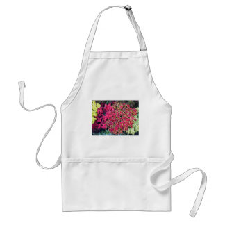 Top view of multicolored and colorful flower bed adult apron