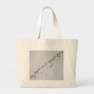 Top view of the chain of ants large tote bag