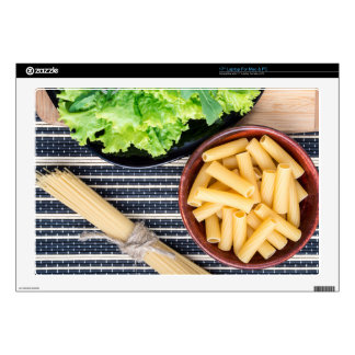 """Top view of the ingredients for cooking food 17"""" laptop skin"""