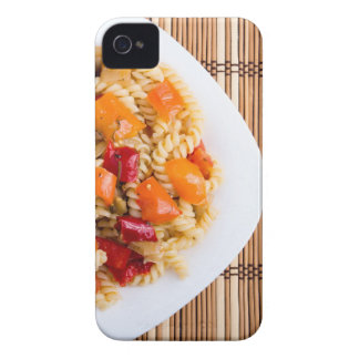 Top view of the Italian pasta on wooden background iPhone 4 Cover