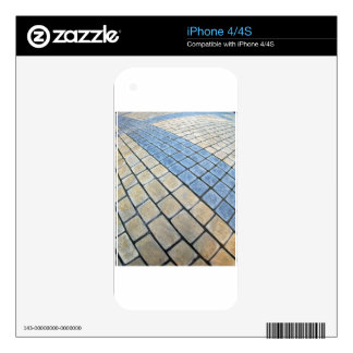 Top view of the pavement of rectangular stones decals for the iPhone 4S