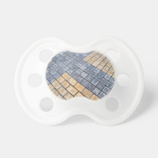 Top view of the pavement of rectangular stones pacifier