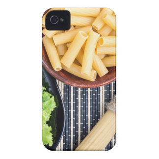 Top view of the spaghetti, pasta and lettuce iPhone 4 cover