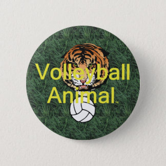 TOP Volleyball Animal Button