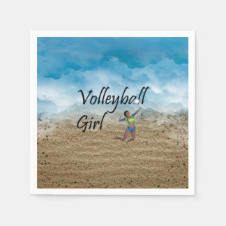 TOP Volleyball Girl Napkin