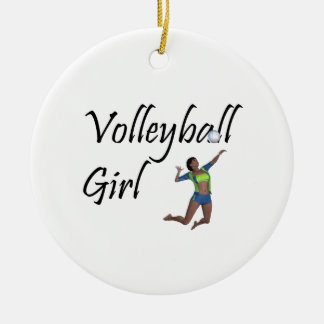 TOP Volleyball Girl Christmas Ornament