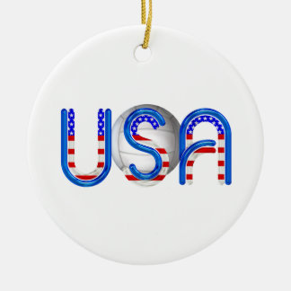 TOP Volleyball in the USA Ceramic Ornament
