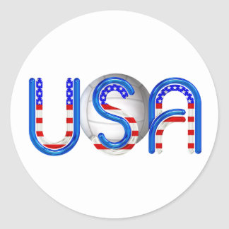 TOP Volleyball in the USA Classic Round Sticker