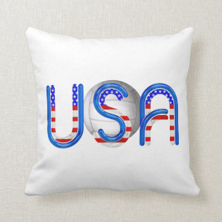 TOP Volleyball in the USA Throw Pillow