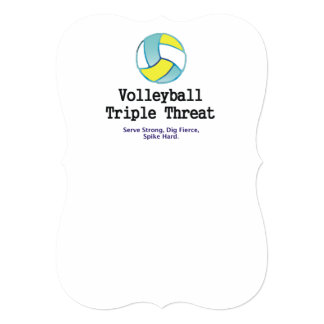 TOP Volleyball Triple Personalized Invitation