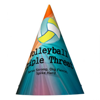 TOP Volleyball Triple Party Hat
