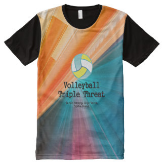TOP Volleyball Triple Threat All-Over Print T-shirt