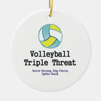 TOP Volleyball Triple Threat Ceramic Ornament