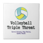 TOP Volleyball Triple Threat Ceramic Tile
