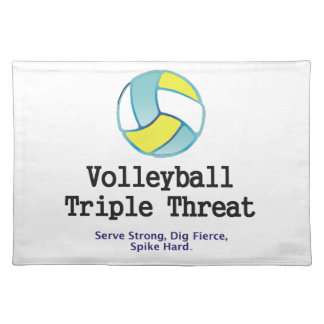TOP Volleyball Triple Threat Cloth Placemat