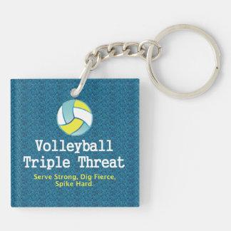 TOP Volleyball Triple Threat Keychain