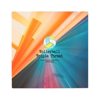 TOP Volleyball Triple Threat Metal Print