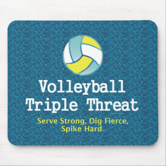 TOP Volleyball Triple Threat Mouse Pad