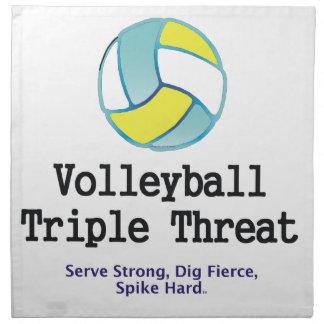 TOP Volleyball Triple Threat Napkin