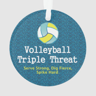 TOP Volleyball Triple Threat Ornament