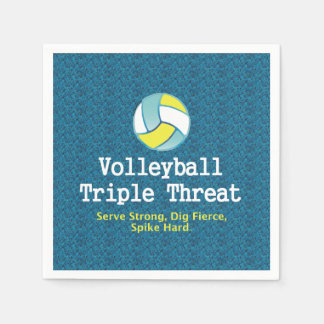 TOP Volleyball Triple Threat Paper Napkin