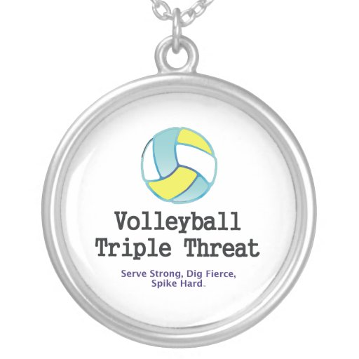 TOP Volleyball Triple Threat Pendants